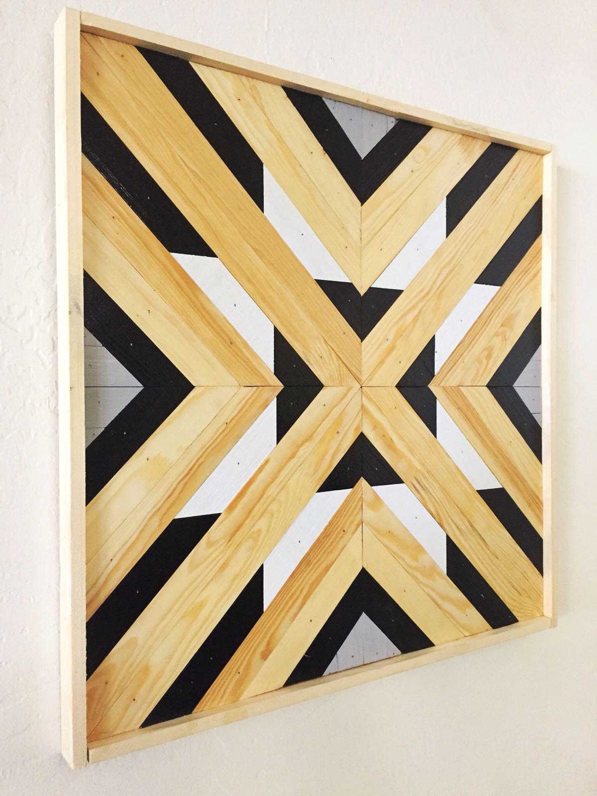 Wood Wall Art, Modern and Decorative Wall Art Wood Panel, Large Wood ...