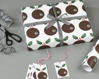 Christmas Wrapping Paper - Christmas Pudding