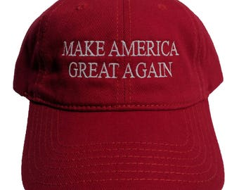 Make America Great Again Embroidered Brushed Denim Hat