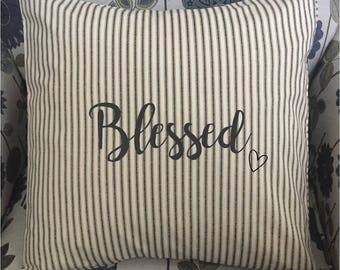 Blessed - Decorative Throw Pillow Cover