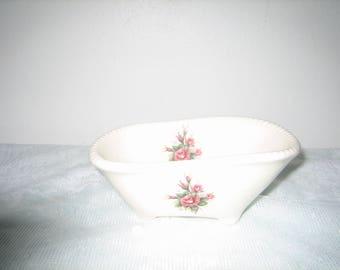 Vintage Athena Claw Footed Bathtub Soap Dish Ceramic Bar Soap Dish Home  Decor Deep Pink Roses