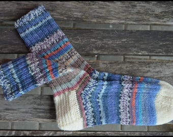 handknitted socks size UK 5,6-6 US 7,5-8