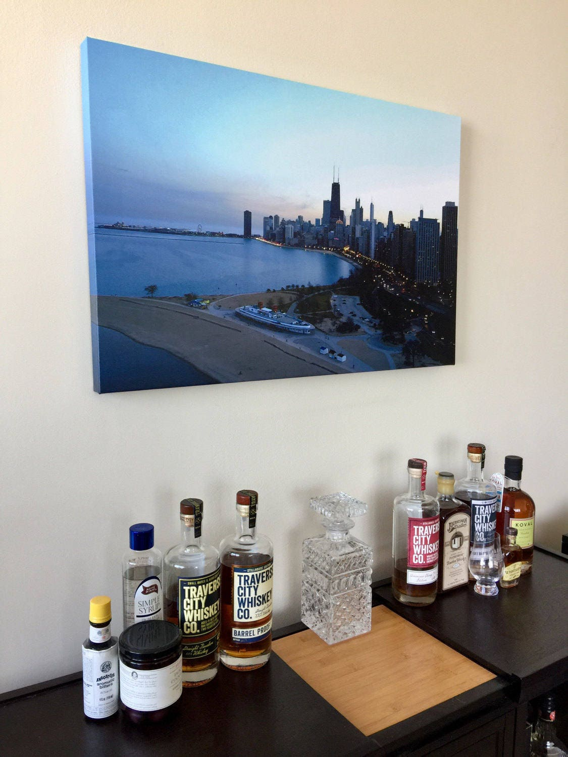 Incredible Chicago Skyline   Office And Wall Art, Fog, Chicago Art, Chicago  Picture, Chicago Canvas, Chicago Wall Art, Chicago Photography