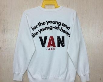 Free Shipping 90s  VAN JAC crewneck