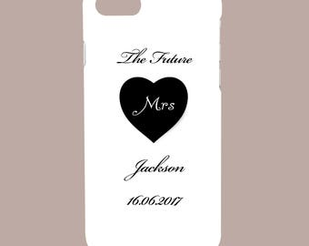 Personalised Wedding Dress, The Future, His, Hers, Mrs Mrs, Married -  Protective Glossy Phone Cover Case to fit iPhone iP Samsung Galaxy GS