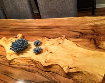 Reclaimed Live Edge Wood Table Runner