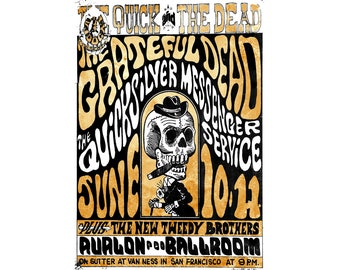 T-SHIRT: Grateful Dead / Concert Poster - Classic T-Shirt & Ladies Fitted Tee - (LazyCarrot)