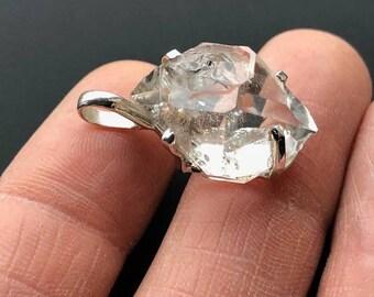 Beautiful Herkimer Diamond 925 Silver Pendant  AAA+ Grade  ~ 5gm