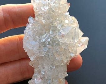 Stunning Apophyllite Natural Unpolished Crystal Cluster~ High Vibration ~ 119gm