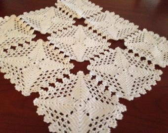 Vintage Swedish Handcrocheted Cloth / Tablecloth / Doily