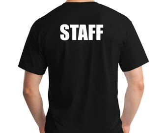 Staff T-Shirt,Event T-Shirt, Work T-Shirt, church T-Shirt, Concert  T-Shirt, Occupation T-Shirt, Novelty T-Shirt, T-Shirt Costume -Security