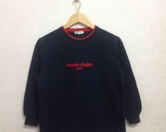 Vintage 90's Marie Claire Paris Sweatshirts Size S