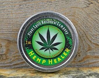 Hemp Healer   Herbal Healing Balm with Patchouli & Lavender   2 oz.