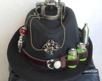 Steampunk style Black Hat