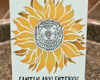New Welcome Sunflower Metal Sign - Outdoor decor - Home Decor - Yellow Sign
