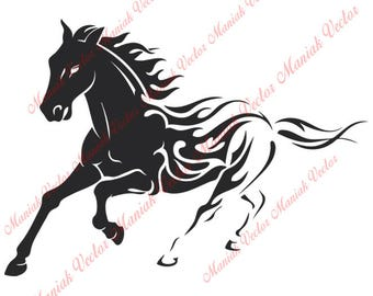 Instant Download! - Horse Svg, Horse Silhouette Files, Horse Svg, Horse Cut, Horse Cut File, Horse Silhouette, Horse, Horse Vector Svg Eps