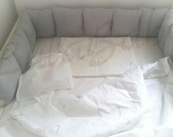 Cot / bed bumper/ protective pillow
