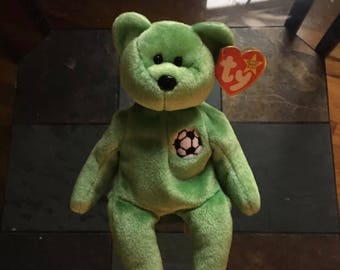 Ty Beanie Baby Kicks with different year dates on swing and tush tag error