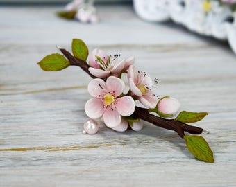 Sakura, sakura jewelry, sakura wedding, cherry blossom, sakura necklace, sakura pendant, sakura clay, jewelry idea for me,sakura choker