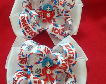 Thing 1 and Thing 2 Hair bow set, Dr. Seuss
