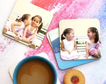 Personalised Photo Coasters Set Of Six