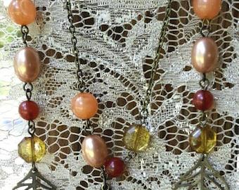 Fallen Leaves Jewelry Set