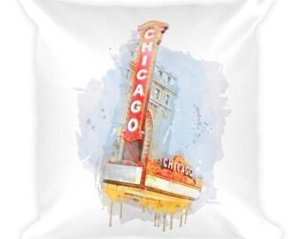 Chicago Square Pillow | Historic Theater Concert Hall + Venue | Gift Idea