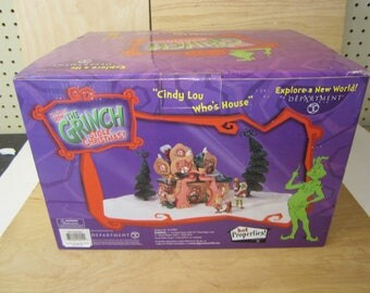"""Dept 56 """" Cindy Lou Who How the Grinch stole Christmas"""" lighted"""