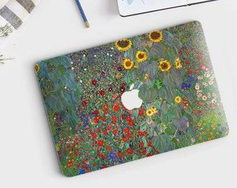 """Macbook Pro skin Gustav Klimt """"Garden with Sunflowers"""" Macbook Pro 13 skin Macbook Pro 15 skin Macbook Pro 2017 skin. Macbook Air skin."""