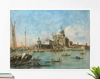 "Francesco Guardi ""Venice: The Punta della Dogana"". Art poster, art print, rolled canvas, art canvas, wall art, wall decor"