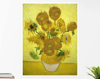 "Vincent Van Gogh, ""Sunflowers"". Art poster, art print, rolled canvas, art canvas, wall art, wall decor"