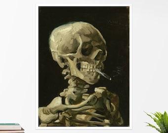"Vincent Van Gogh, ""Skull of a Skeleton..."". Art poster, art print, rolled canvas, art canvas, wall art, wall decor"