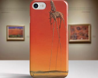 "Salvador Dali, ""Elephants"". iPhone 8 Case Art iPhone 7 Case iPhone 6 Plus Case and more. iPhone 8 TOUGH cases. Art iphone cases."