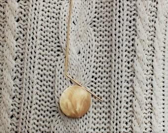 Tano Handmade pendant, Bronze pendant, Minimal pendant, Circle, Geometric pendant