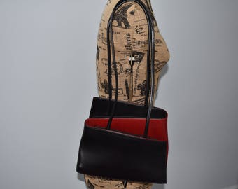 Handbag red and black vintage