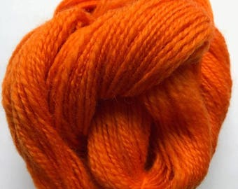 Hand Spun Corriedale - Orange Citrus