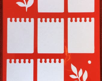 Weekly Layout Stencil (Notepaper) **Introductory Price!!**