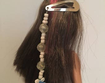 Blue summer flower hair clip