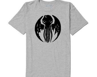 Cthulhu HP Lovecraft Elder Sign Unisex T Shirt Many Sizes Colors Custom Horror Halloween Merch Massacre