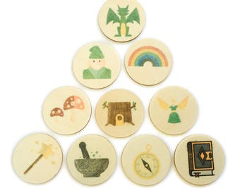 fantasy forest - story tellers / story stones