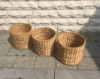 Vintage baskets basket set rattan basket flower pot