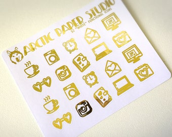 Functional Icons - FOILED Sampler Event Icons Planner Stickers