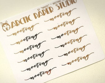 Meeting - SCRIPTS - FOILED Sampler Event Icons Planner Stickers