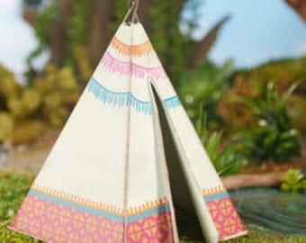 Dollhouse Miniature Fairy Garden Metal Teepee