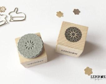 Stamp flower mandala / / cubes