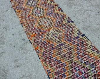 Runner Rug,Turkish Vintage Oushak Runner Rug,Home Decoratıve Runner Rug,2'4''x8'9''feet,Handwoven Pastel Colors,home living,fashion rug,