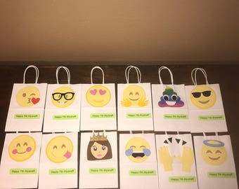 Emoji party favor bags / goodie bags / loot bags / pinata bags / candy bags