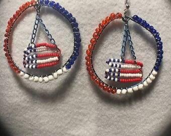 Patriotic Flag Earrings