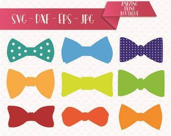 Bow Tie Clipart, Bowtie Cuttable Designs SVG, DXF, EPS, Bows silhouette bundle, Gift bow Svg, bowtie svg, Bow Tie svg digital files, tie svg