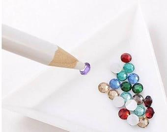 1 x Nail Art Rhinestones Gems Picking Tools Pencil Pen Pick Up Pen